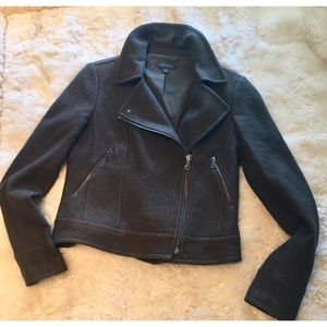 Like new Ann Taylor olive Moto Jacket